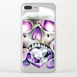 Calla Skull Clear iPhone Case
