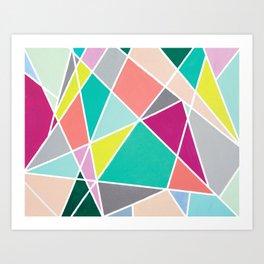 Geometric Spotlights Art Print