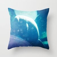 manatee Throw Pillows featuring Manatee by Emily
