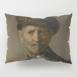 An Old Man in Military Costume Pillow Sham