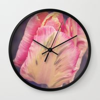 blush Wall Clocks featuring Blush by Strange Charm