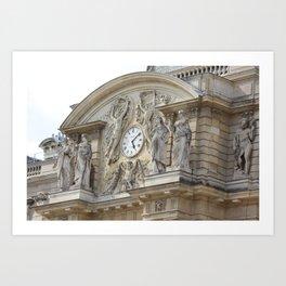 Quel heure est? Saint Germain Art Print
