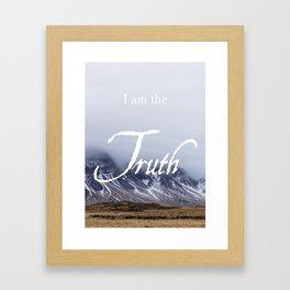John 14:6 (2 of 3) I Am the Truth Inspirational Bible Verse Christian Art Framed Art Print