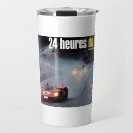 Le Mans, 24hs Le Mans 1971, original vintage poster, Le mans poster Travel Mug