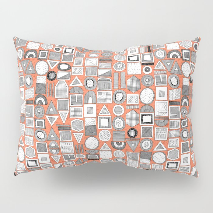 frisson memphis bw orange Pillow Sham