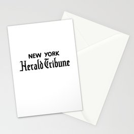 new york herald tribune Stationery Cards
