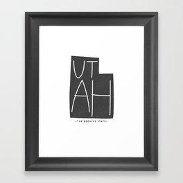 Utah   Gray Framed Art Print