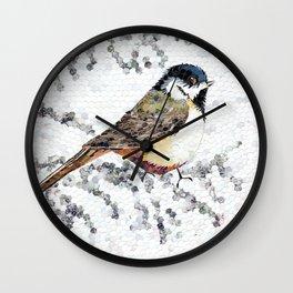 """Blackap Chickadee Oval"" Wall Clock"