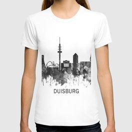 Duisburg Germany Skyline BW T-shirt