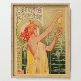 Classic French art nouveau Absinthe Robette Serving Tray
