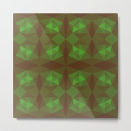 Abstract symmetry green background Metal Print