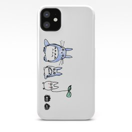 Totoro and Friends Drawing iPhone Case