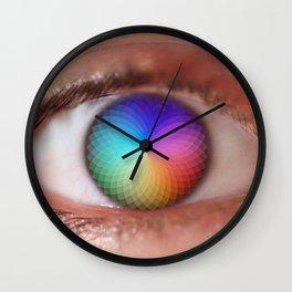 I see all the Colors - Geometric Pantone Eye Vision Wall Clock