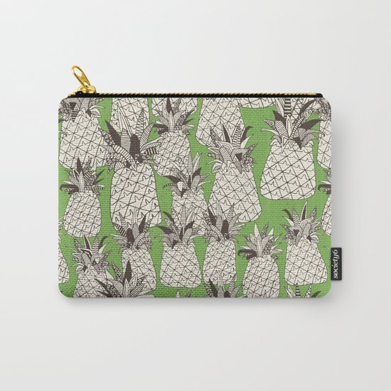 pineapple palm green Carry-All Pouch