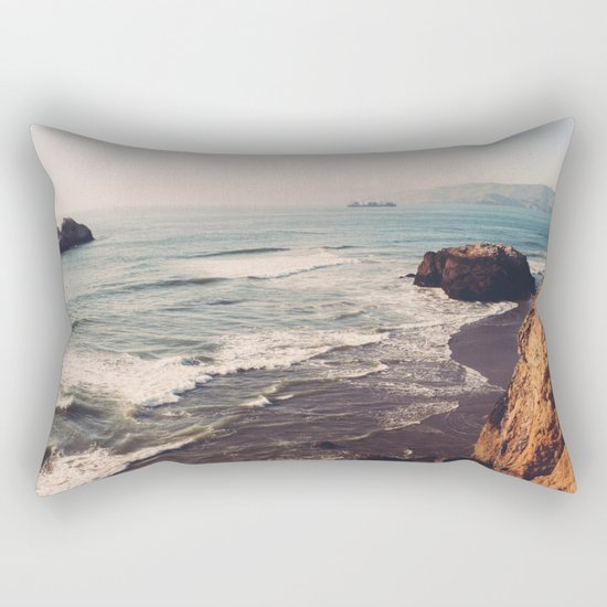 Vintage Ocean #landscape Rectangular Pillow