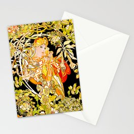 Marguerite's Bower, Mucha Stationery Cards