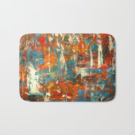 An Oasis In A Desert Abstract Painting Bath Mat