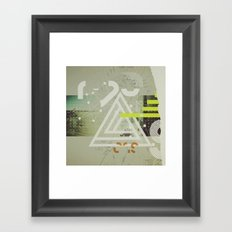 Coordinates Framed Art Print
