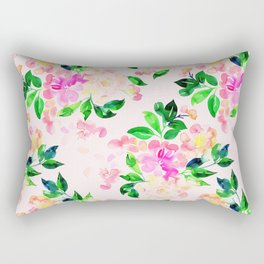 Watercolor spring floral pattern Rectangular Pillow
