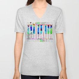 Piano Keyboard Unisex V-Neck