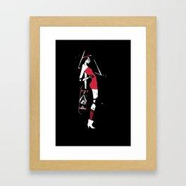 Skater Girl Framed Art Print