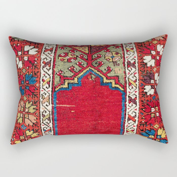 Mujur Central Anatolian Niche Rug Print Rectangular Pillow