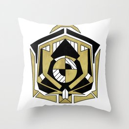 Cybernetic Apple Throw Pillow