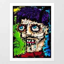 Self -Portrait as All That Is Wrong In The World Art Print