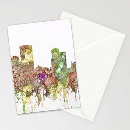 Little Rock, Arkansas Skyline - Faded Glory Stationery Cards