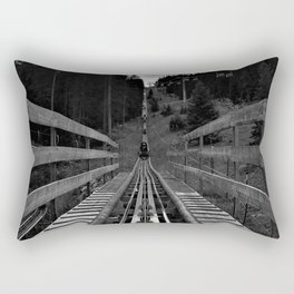adventure park hög schneisenfeger coaster alps sfl tyrol austria europe black white Rectangular Pillow