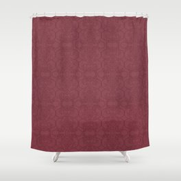 Rasberry Vertical Lace Shower Curtain