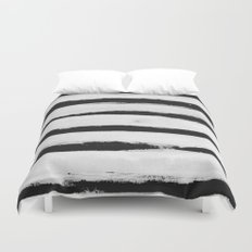 BW Stripes Duvet Cover
