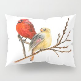 The Perfect Pair - Male and Female Cardinal by Teresa Thompson Pillow Sham