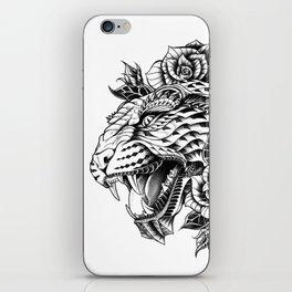 Ornate Leopard Black & White Variant iPhone Skin
