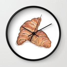 Breakfast & Brunch: Croissants Wall Clock