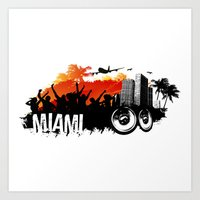 Miami Summer Art Print