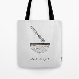 Whip It Good, Music Quote Tote Bag
