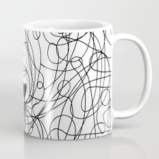 The lines of Love - White version. Mug