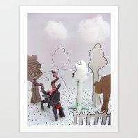 farm Art Prints featuring Farm by Kirsten zuiderbaan