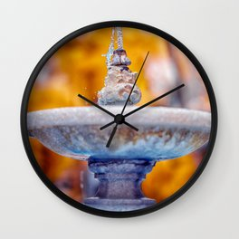 Fountain Wall Clock