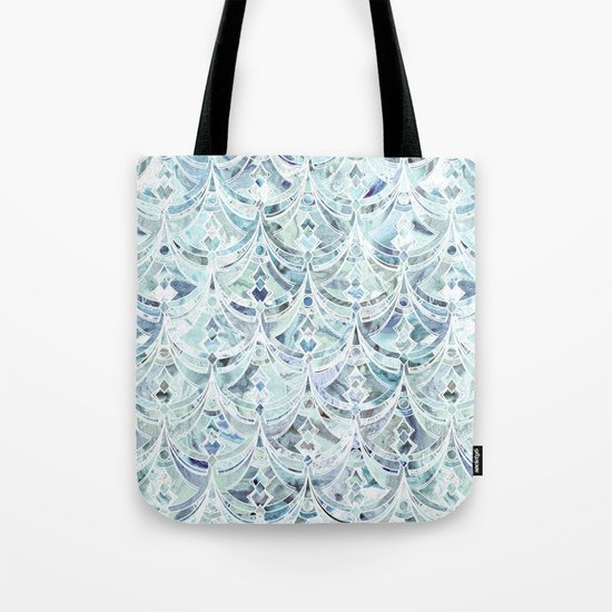 Ice and Diamonds Art Deco Pattern Tote Bag