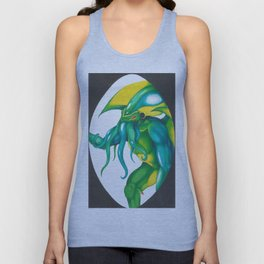 Cthulhu comes to visit Unisex Tank Top