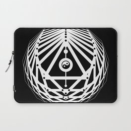 Radiant Abundance (black-white) Laptop Sleeve