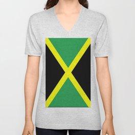 Jamaica Flag Unisex V-Neck