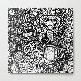 Under the Sea Doodle Metal Print