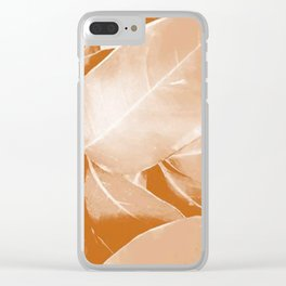 Tanned leaves. bronze, gold, orange, decor, art, Society6. Clear iPhone Case