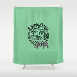 Schrute Farms bed and breakfast and self defense Shower Curtain