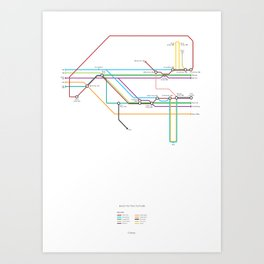 Character Map – Back to the Future Art Print