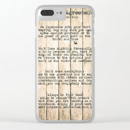 The Four Agreements 7 Clear iPhone Case
