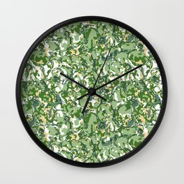 Flower Camuflage green Abstract Wall Clock